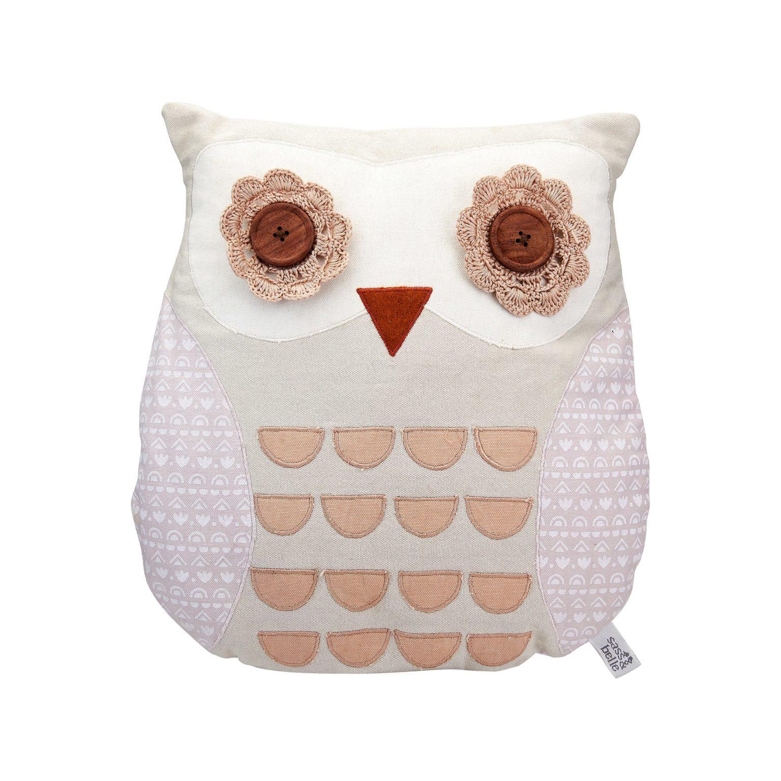 maya owl cushion